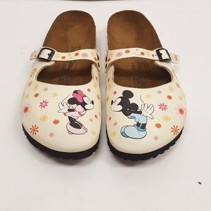 Birkenstock Minnie and Mickey  Disney mules